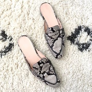 J. Crew Leather Snake Academy Mule size 9